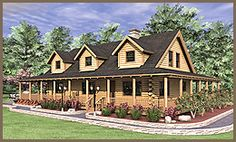 The Ashley, Log Home Floor Plans NH, Custom Log Homes | Gooch Real Log Homes