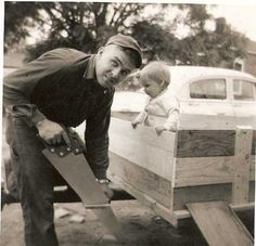 Iowa Cold Case: Julie Benning watching Daddy build a trailer before moving home from the Army carolkean.wordpress.com