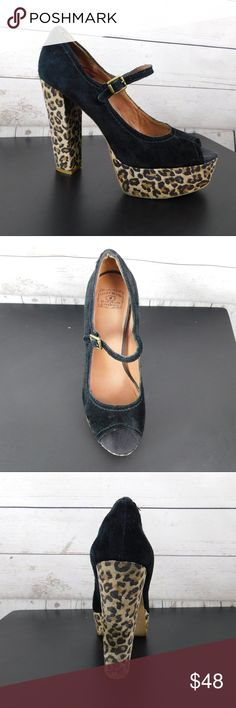 """Lucky Brand Platform Peep Toe Cheetah Heels 10 Lucky Brand platform peep toe heels. Gently used condition, some normal wear that can bee seen in the photos. Size: 10 Heel Height: 5"""" Platform Height: 1.5"""" SB6 Lucky Brand Shoes Platforms"""