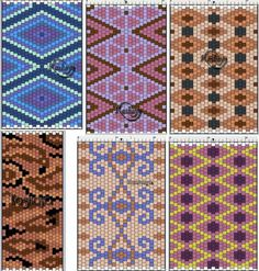 peyote Seed Bead Projects, Beading Projects, Beading Tutorials, Peyote Stitch Patterns, Seed Bead Patterns, Beading Patterns, Peyote Beading, Brick Stitch, Tutorials