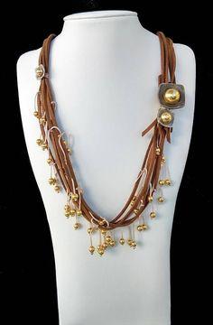 Multi Strand Suede Necklace