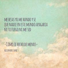 Como Te Hecho de Menos (Alejandro Sanz)