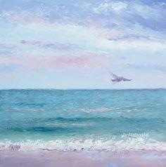 Ocean Painting Beach Decor Fine Art Beach Painting by JanMatsonArt, $95.00