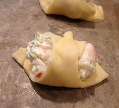 Krista's Kitchen: Crab-Filled Crescent Wontons