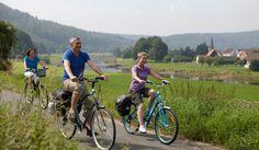 De Weserradweg- fietsers