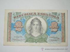 precioso billete republica española 2 pesetas 1938 sin circular serie b