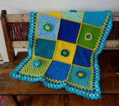 BABY BLANKET crochet granny squares by THEDIVINELILY on Etsy, $95.00