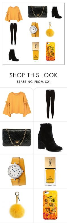 """""""Untitled #13"""" by anafilipa016 ❤ liked on Polyvore featuring MANGO, New Look, Chanel, Witchery, Yves Saint Laurent, Fendi and Casetify"""