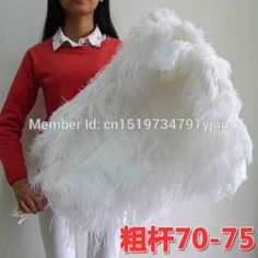 50 PCS natural white ostrich feather 70-75 cm / 28 to 30 inch plume wedding