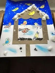 winter crafts for preschoolers Winter Art Projects, Winter Crafts For Kids, Winter Kids, Art For Kids, Classe D'art, Preschool Crafts, Kids Crafts, January Crafts, New Year's Crafts