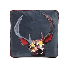 Abigail Ahern/Edition Navy Stag Cushion From Debenhams