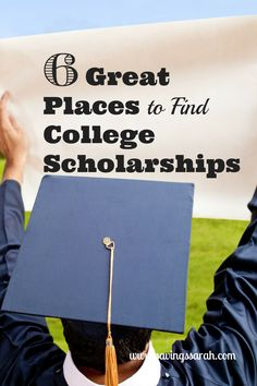 6 Great Places to Find College Scholarships The cost of college can be staggering. Luckily, there are ways to reduce the bill without having piles of costly student loans to pay back. Have a look at these 6 Great Places to Find College Scholarships - Earn Grants For College, College Costs, Financial Aid For College, College Planning, Scholarships For College, College Hacks, Education College, College Students, College Savings