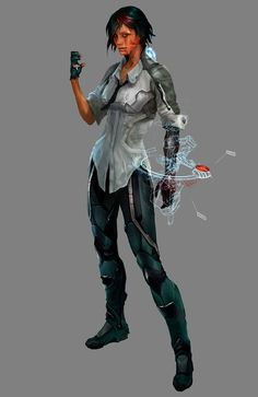 Nilin Character Concept Art - Remember Me (PS3/Xbox 360/Windows)