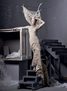 "Karen Elson in ""Alexander the Great"" by Steven Meisel, Vogue US, May 2011"