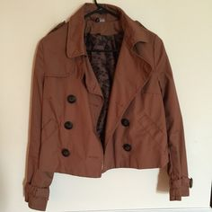 Divided by H&M jacket Light-weather, brown with cheetah print inside jacket, worn twice Divided by H&M Jackets & Coats