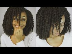 Defined Braid Out on Natural 4b/4c hair Ft. Her Given Hair Kinky Upart Wig - YouTube