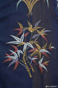 Chinese Embroidery, Modern Embroidery, Embroidery Stitches, Hand Embroidery, Machine Embroidery, Embroidery Suits Design, Embroidery Designs, Boro Stitching, Chinese Patterns