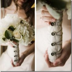 Vintage typewriter keys for bouquet