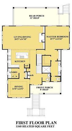 Coastal House Plans, Cottage House Plans, Coastal Cottage, Coastal Homes, Cottage Homes, Coastal Farmhouse, Best House Plans, Small House Plans, House Floor Plans