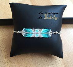 Bracelet AYASHA tissé main Vert tendre : Bracelet par la-boutique-de-kathlyn