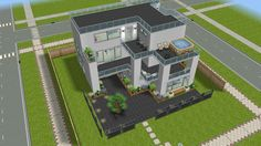 Sims freeplay, modern house