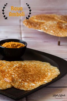 Rava Amboli- Soft and Spongy Rava Amboli - Kali Mirch - by Smita Breakfast Options, Perfect Breakfast, Indian Bread Recipes, Dosa Recipe, Indian Snacks, Cooking Light, Chutney, Food Videos, Snack Recipes