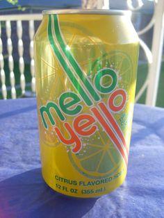 Mello Yello, Citrus Flavored Soda:   12 oz Can. product of The Coca-Cola Company