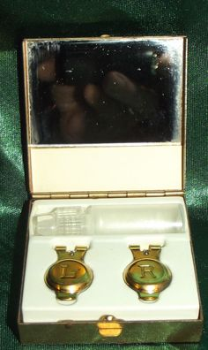 Vintage #ContactLens Case Solution Bottle Personalized L R Initials 1950s 1960s