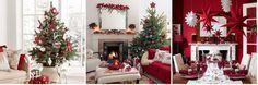 Decoración navideña en color rojo