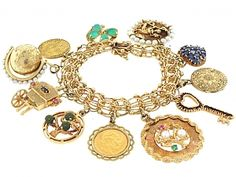 Mid-Century Charm Bracelet in 14K and 18K