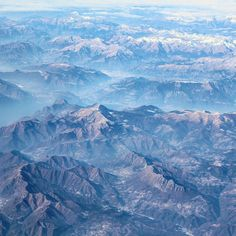 Great view flying over Alps.