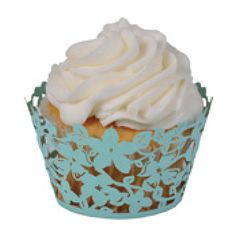Magnolia Cupcake Wrapper Robin's Egg Blue (Set of 50)