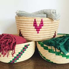 the perfect woven baskets handmade in tanzania. empowering women + creating business opportunities www.paisleyandsparrow.com