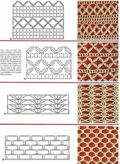 Free images of various stitch patterns  #freebie #freepatterns #freecrochet #freecrochetpatterns #crochet #diy #homemade #handmade #clothes