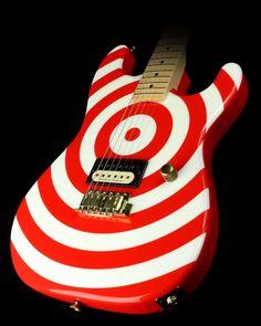 2004 Charvel USA San Dimas Retro Electric Guitar :: (Bullseye with Maple Neck).