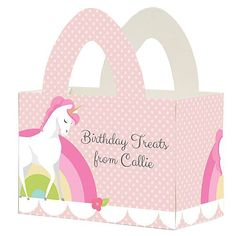 Unicorn Personalized Favor Box