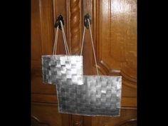 Ce qu'il vous faut, des emballages en tetra pak,de la patience, du fil et des idées! Visitez mon site http://larecup.e-monsite.com