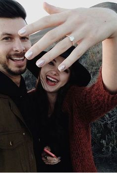 Brides.com: . Post a Ring Selfie. A picture is worth a thousand words, right? Now that you've got the important phone calls out of the way (because in the case of your parents, a picture alone won't suffice), it's time to announce to the world that, yes, you're engaged! The best way to do so, obviously, is by showing off that rock, brides. For some engagement ring selfie inspiration, peep these perfect Instagram posts.
