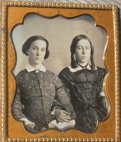 """Found and Lost on Ebay """"Sixth plate daguerreotype of two attractive young ladies, sisters or friends. Image is in excellent conditi..."""