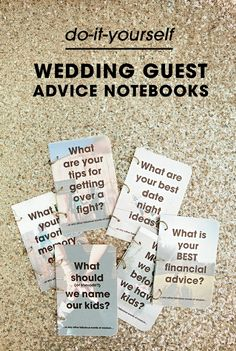 Learn how to make weddings signs with ribbon for hinges diy learn how to make these darling diy wedding guest advice notebooks with sturquoiseblog so solutioingenieria Image collections