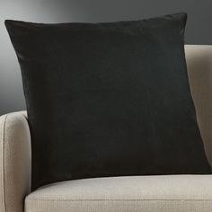 "23"""" leisure black pillow with down-alternative insert"