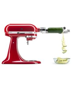Reinvent classic meals and inspire your culinary creativity with the versatile KitchenAid& Spiralizer with Peel, Core and Slice Stand Mixer Attachment. Make fresh fruit and vegetable recipe options, from zucchini noodles to sweet and savory dishes. Small Kitchen Appliances, Kitchen Aid Mixer, Kitchen Shop, Kitchen Dining, Kitchenaid Standmixer, Kitchenaid Accessories, Vegetable Skewers, Kitchenaid Artisan, Healthy Side Dishes