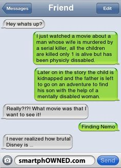 wow when u look at it that way i dont think kids should be watching this Text Memes, Funny Text Fails, Funny Text Messages, Funny Quotes, Funny Memes, Jokes, Hilarious Texts, True Quotes, Really Funny