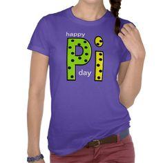 Happy Pi Day T-Shirt GIANT LETTERS  @Zazzle.com