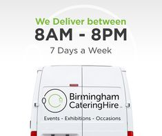 We deliver seven days a week from 8am to 8pm - and with one hour timeslots offered for delivery we're sure we can accomodate even the busiest exhibitor!   #BirminghamCateringHire #ExhibitionHire #EventsHire #NEC #Expo