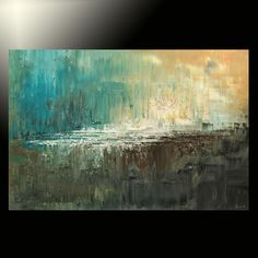 original large abstract palette knife painting modern contemporary Tatiana art
