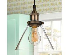 Lampa Clear Glass Funnel 086