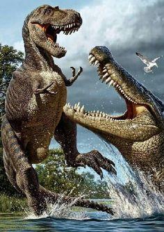 Deinosuchus vs. Albertosaurus