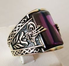 Handmade Amethyst Stone 925 Sterling Silver Men's Ring + Free Resizing   Jewelry & Watches, Men's Jewelry, Rings   eBay! #jewelryrings