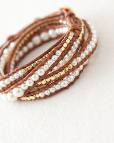 CHAN LUU pearl wrap bracelet